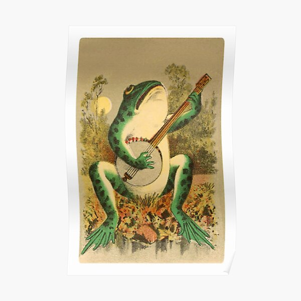 frog with a banjo  Poster