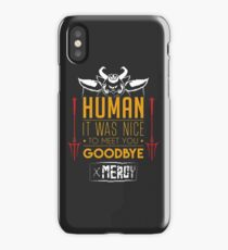 Asgore is glad to meet you iPhone Case/Skin
