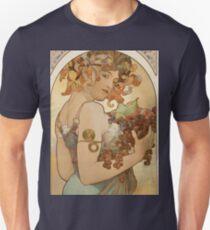 Alphonse Mucha - Fruit  Unisex T-Shirt