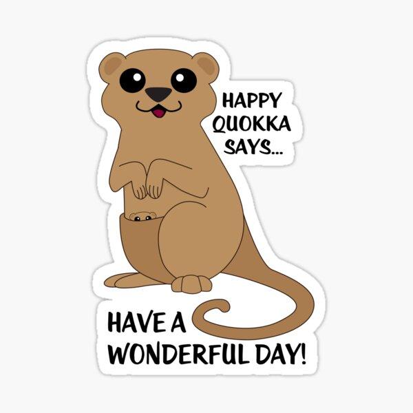 Happy Quokka Sticker