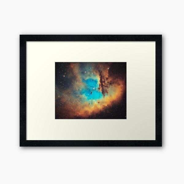 NGC 281 - Hubble Palette Narrowband Framed Art Print