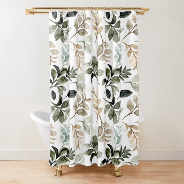 Pattern Seamless, Watercolor Throw Blankets Shower Curtain