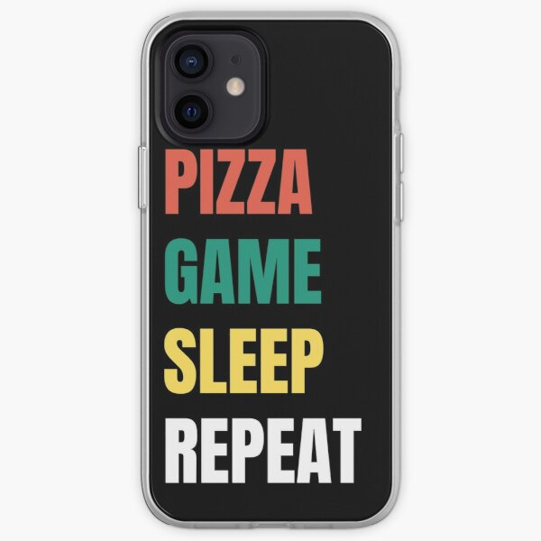 Pizza, Game, Sleep , Repeat iPhone Soft Case