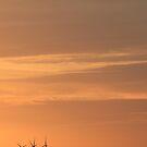 Wind Turbine Sunset by KarenJI1962
