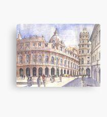 Genova, Piazza De Ferrari Canvas Print