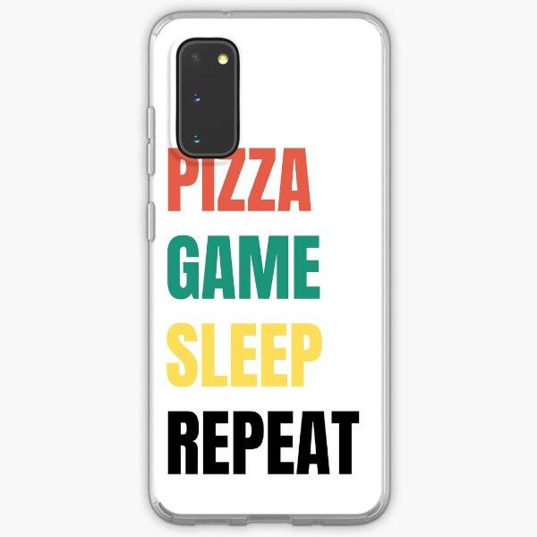 Pizza, Game, Sleep, Repeat Samsung Galaxy Soft Case