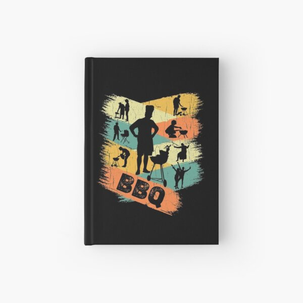 Retro BBQ Hardcover Journal