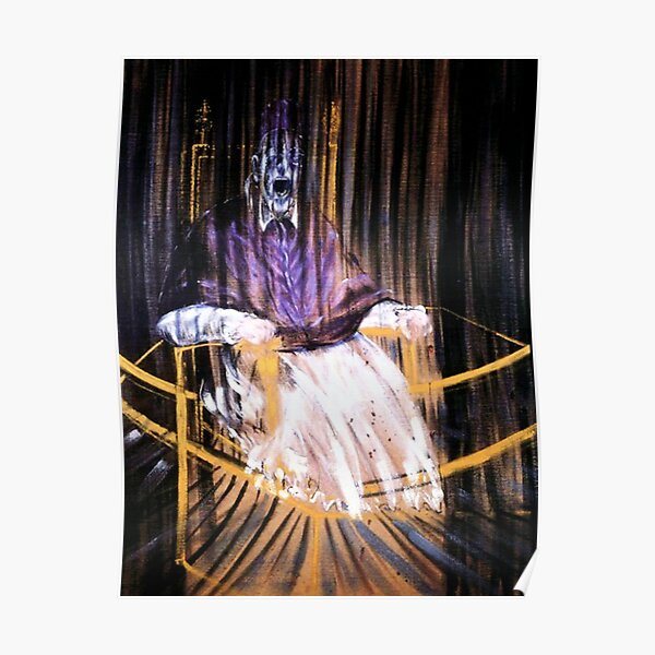 Francis Bacon - Study after Velázquezs Portrait of Pope Innocent X Poster