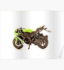 Sports motorcycle 1 Poster