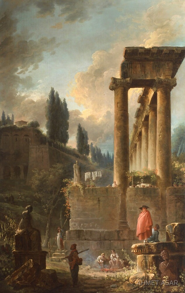 Figures amongst Ruins inspired by the Temple of Saturn by MotionAge Media