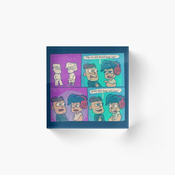 Let's hang out soon! Acrylic Block