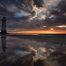 On reflection. Talacre by robevans