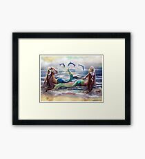 By the Sea,...By the Beautiful Sea Framed Print