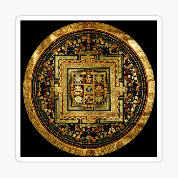 Buddhist Mandala Golden OM  38 Sticker