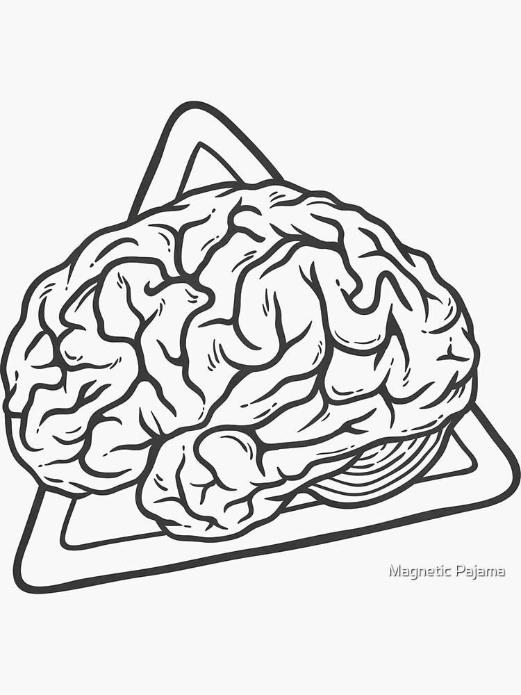 Vintage Brain 80s 90s Nostalgia Retro Brainy Nerdy Graphic Tee by MagneticMama