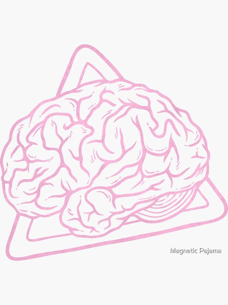 80s 90s Nostalgia Retro Brain Nerdy Graphic Tee by MagneticMama