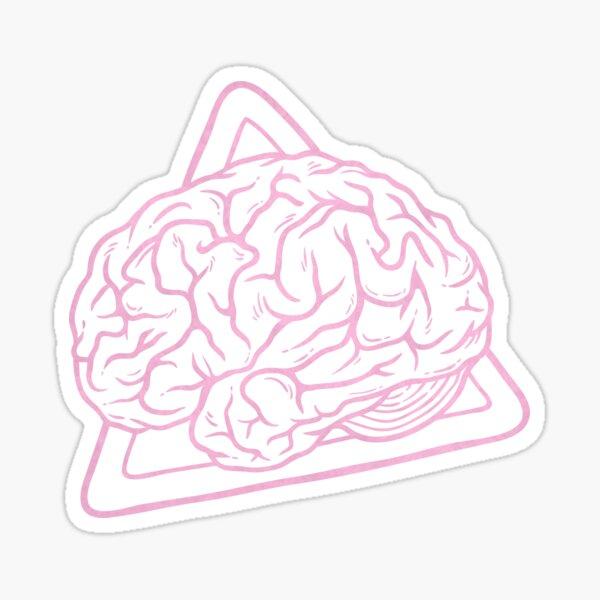 80s 90s Nostalgia Retro Brain Nerdy Graphic Tee Sticker