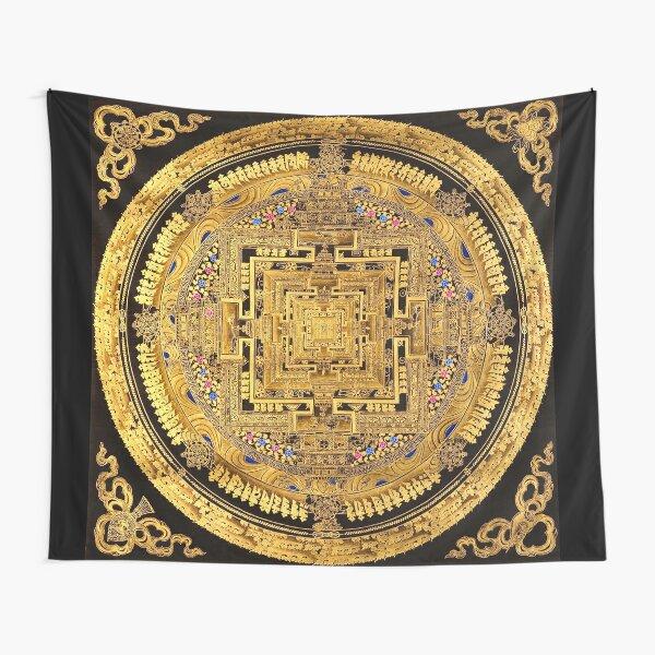 Buddhist Mandala Golden OM  40 Tapestry