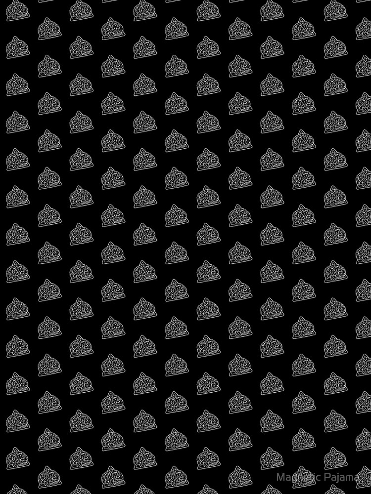 80s 90s Nostalgia Retro Monochrome Brain Nerdy Graphic Tee by MagneticMama