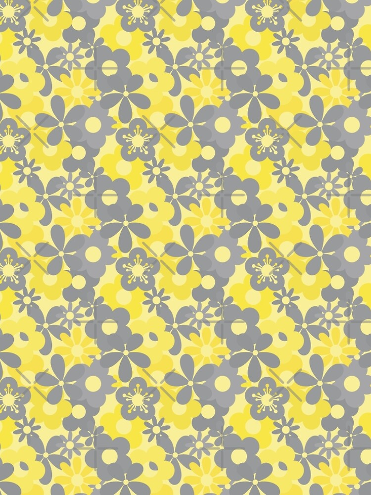 Pantone Color Year 2021 Flower Power Seamless Pattern Print by ClaudiaFlores