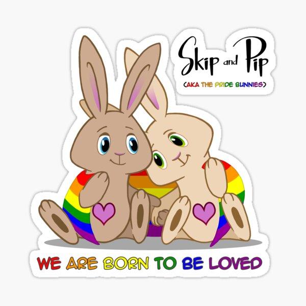 Skip & Pip (aka the Pride Bunnies) Pride 2015 Sticker