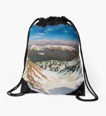 In the Mountains Drawstring Bag