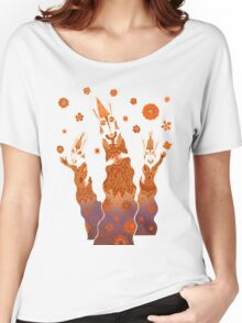 Psychedelic Rabbit Wizards  Women's Relaxed Fit T-Shirt