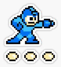 Mega Man + 3 Bullets Sticker
