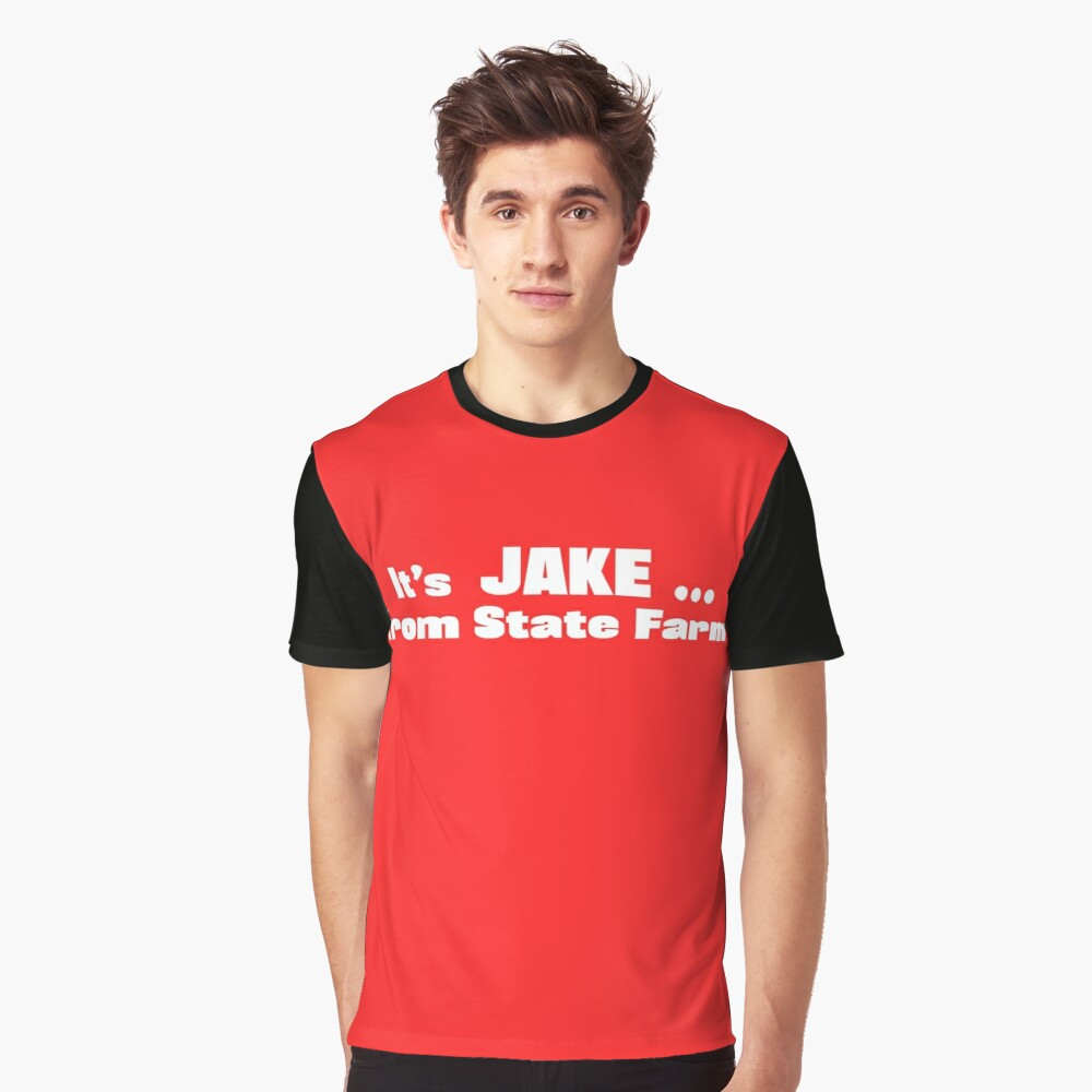 This is an image of Jake From State Farm Name Tag Printable in font