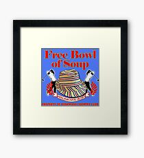 Caddyshack- Free bowl of soup with Hat Framed Print