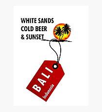 Bali Sunset Beach Photographic Print