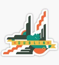 Flat design swallow - Dublin Sticker