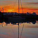 Boat Reflection During Sunrise   Sayville, New York by © Sophie W. Smith