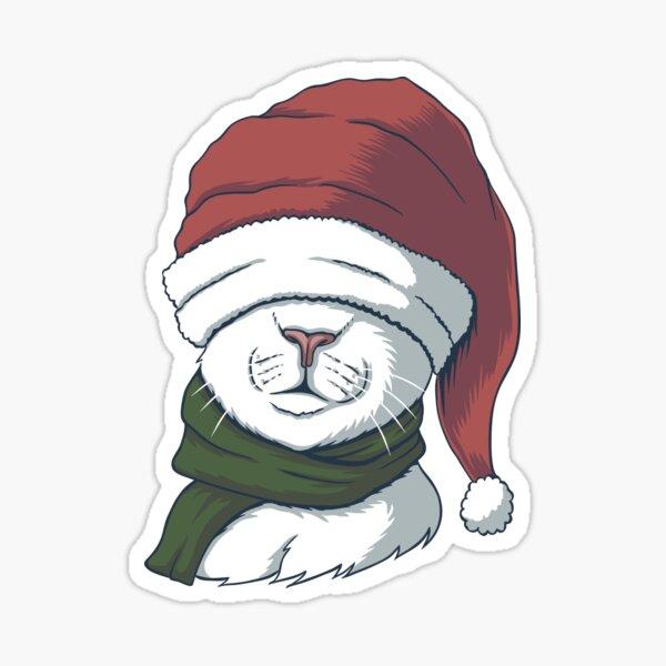 Cat- Christmas T-shirt  Sticker