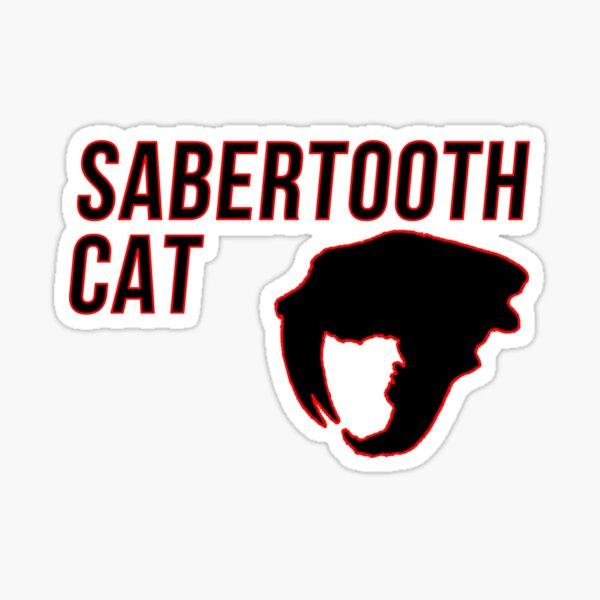 Sabertooth Cat Sticker