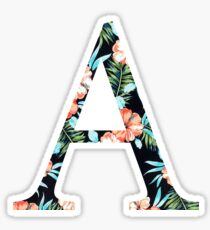 Alpha Floral Greek Letter Sticker