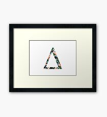 Delta Floral Greek Letter Framed Print