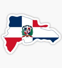 Flag Map of the Dominican Republic  Sticker