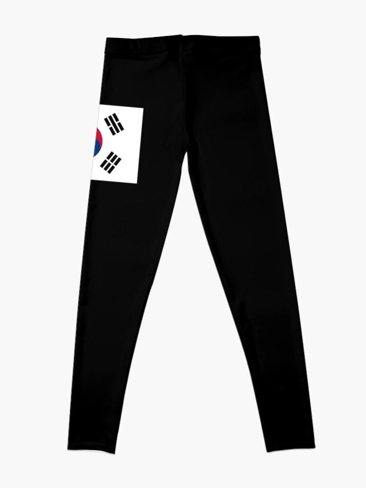 Alternative Ansicht von Südkorea-Flagge Leggings