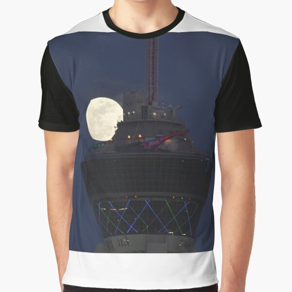 Full Moon & Stratosphere Tower Graphic T-Shirt