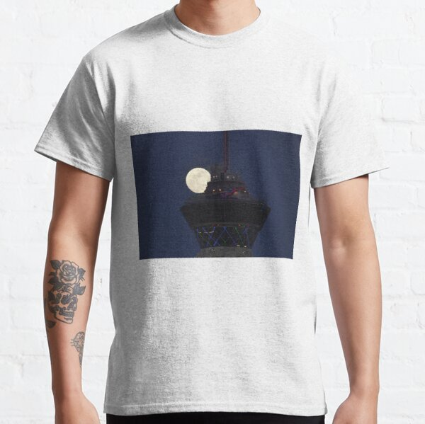 Full Moon & Stratosphere Tower Classic T-Shirt