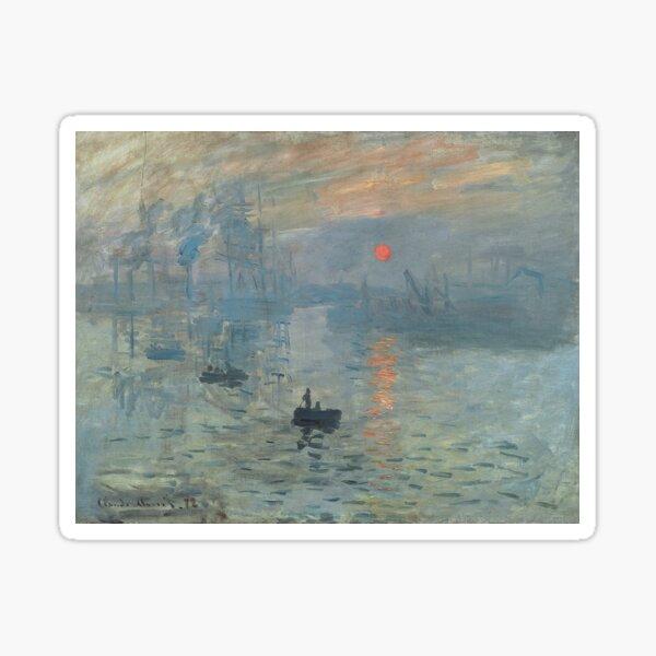 Monet Impression Sunrise Fine Art Sticker