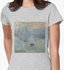 Monet Impression Sunrise Fine Art Fitted T-Shirt