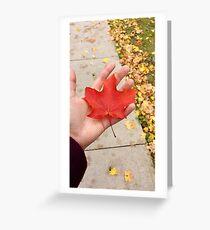 Canadian Fall Greeting Card