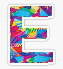 Fun Letter - E Sticker
