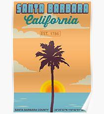 Santa Barbara - California. Poster