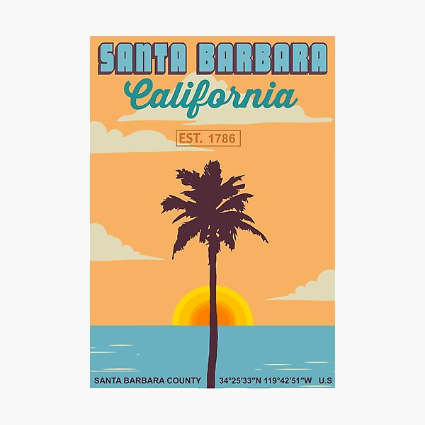 Santa Barbara - California. Photographic Print