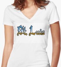 St. Luis chrome style Women's Fitted V-Neck T-Shirt
