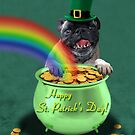 St. Patrick's Day Pug by jkartlife