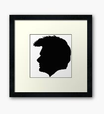 David Tennant Silouette Framed Print